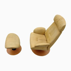 Norwegian Lounge Chair & Ottoman from Stordal, 1970s