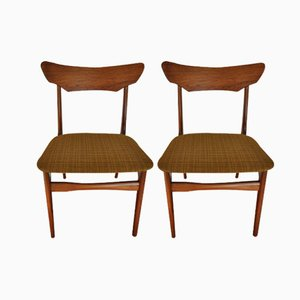 Mid-Century Teak Dining Chairs by Schiønning & Elgaard, Set of 2