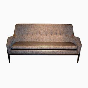 Skandinavisches Sofa in Schwarz & Gold von Ib Kofod Larsen, 1950er