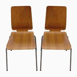 Stühle aus gebogenem Schichtholz, 1980er, 2er Set