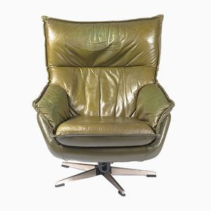 Leather Swivel Chair, 1980s