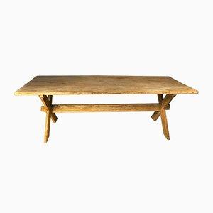 Tavolo in pino schiarito, anni '50