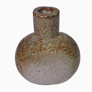 Jarrón sueco de cerámica en gris de Gunnar Nylund para Rörstrand, años 60