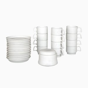 Italian Stoneware Set by Ambrogio Pozzi for Gresline, 1960s
