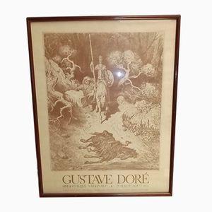 Affiche Don Quixote National Library par Gustave Doré, 1974