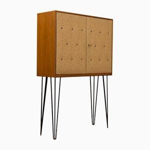 Mueble bar vintage chapado en nogal