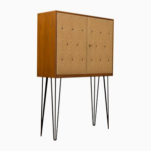 Vintage Walnut Veneered Bar Cabinet, 1950s
