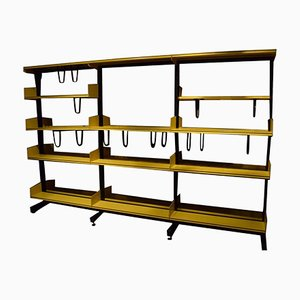 Vintage Yellow & Black Modular Shelving Unit by Rudolph Koreska for Reska