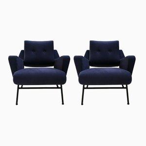 Lounge Chairs by Gérard Guermonprez for Magnani, 1954, Set of 2