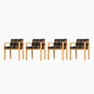 Armlehnstühle aus Birken- Schichtholz, 1950er, 4er Set