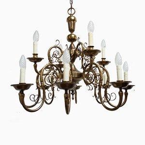 Lámpara de araña de doce luces, años 60