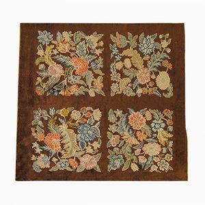 Vintage Art Deco Teppich mit floralem Muster von Savonnerie
