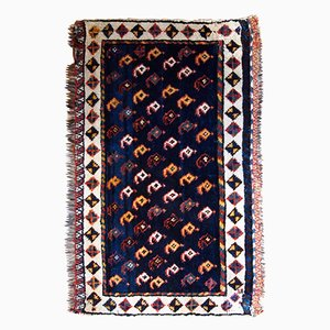 Antique Middle Eastern Bag Face Rug, 1890s
