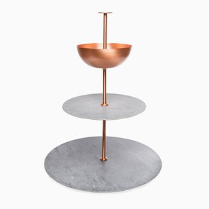 Versilia Marble and Copper Lunar Cycle Stand by Elisa Ossino for Paola C.