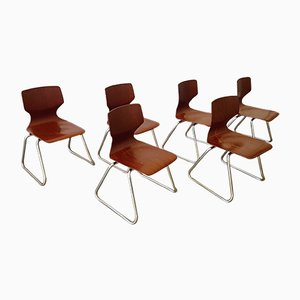 Children Chairs by Elmar Flötotto for Pagholz Flötotto, 1970s, Set of 6