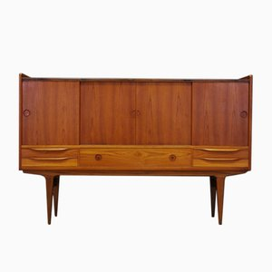 Vintage Danish Teak Veneer Highboard