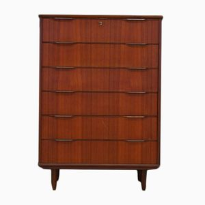 Vintage Danish Teak Veneer Chest of Drawers