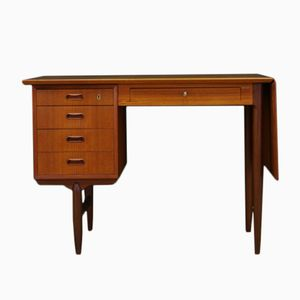 Vintage Danish Teak Veneer Writing Desk