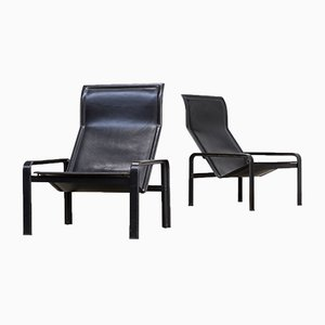 Golfo Dei Poeti Lounge Chairs by Jacques Toussaint & Patrizia Angeloni for Matteo Grassi, 1980s, Set of 2