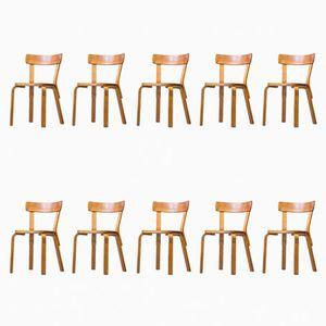 Vintage No. 69 Chairs by Alvar Aalto for Artek, Set of 10