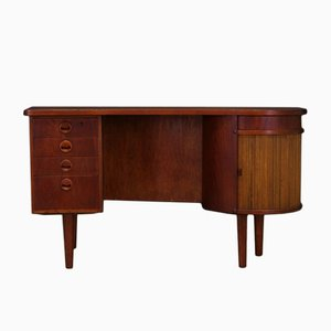 Vintage Danish Teak Veneer Writing Desk by Kai Kristiansen