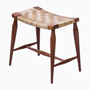 Mahogany Stool by Josef Frank for Svenskt Tenn, 1950s