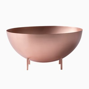 Red Moon Medium-Sized Copper Bowl by Elisa Ossino for Paola C.