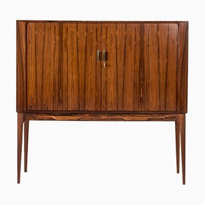 Rosewood Veneer Bar Cabinet by Kurt Østervig for KP Møbler, 1960s