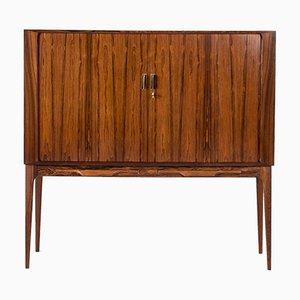 Rosewood Veneer Bar Cabinet by Kurt Østervig for KP Møbler, 1960s