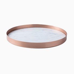 Bandeja Full Moon pequeña de cobre y mármol de Elisa Ossino para Paola C.