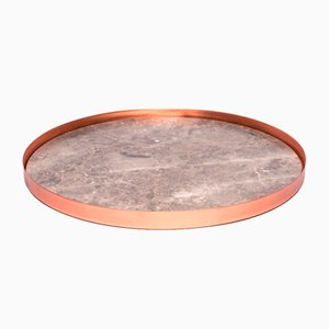 Full Moon Large Copper and Marble Tray by Elisa Ossino for Paola C.