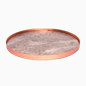 Großes Full Moon Kupfer und Marmor Tablett von Elisa Ossino für Paola C.