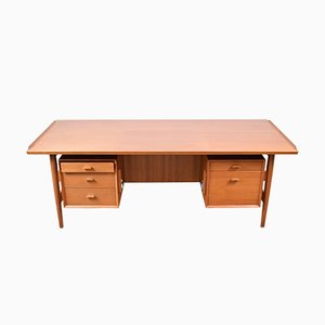 Vintage Teak Executive Desk by Arne Vodder for Sibast