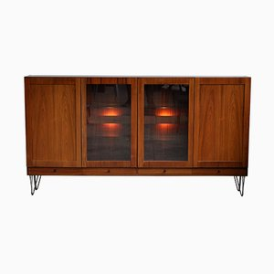 Dänisches Mid-Century Highboard mit Teak Furnier