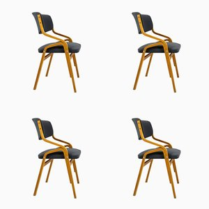 Czech Bent Plywood Chairs from Holesov, 1970s, Set of 4