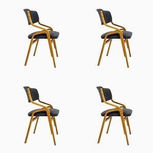 Tschechische Stühle aus gebogenem Schichtholz von Holesov, 1970er, 4er Set