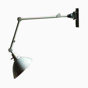 Lámpara de pared vintage gris articulada de Curt Fischer para Midgard/Industriewerke Auma