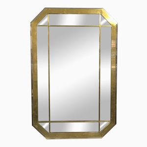 Chrome and Brass Mirror by Romeo Rega, 1970s