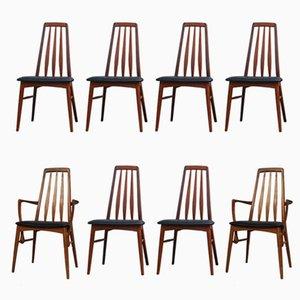 Chaises de Salon Eva par Niels Kofoed pour Koefoeds Mobelfabrik, 1960s, Set de 8