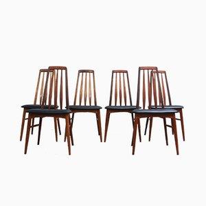 Chaises de Salon Eva par Niels Kofoed pour Koefoeds Mobelfabrik, 1960s, Set de 6