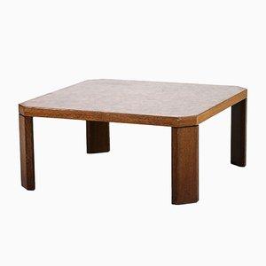 Table Basse en Palmier Marquetée, 1950s