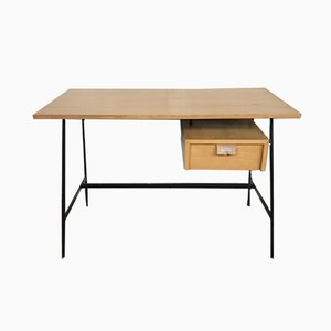 Schreibtisch in Buche von Pierre Paulin für Thonet, 1950er