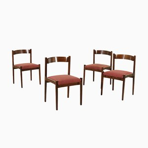 Model MOD-104 Rosewood Chairs by Gianfranco Frattini for Cassina, 1960s, Set of 4