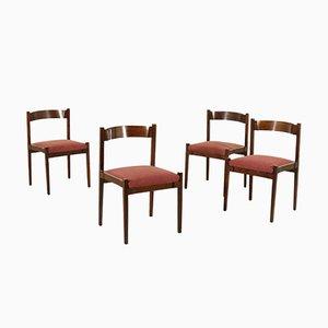 Modell MOD-104 Palisander Stühle von Gianfranco Frattini für Cassina, 1960er, 4er Set