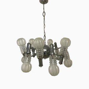 Lámpara de araña italiana Era Espacial, años 70