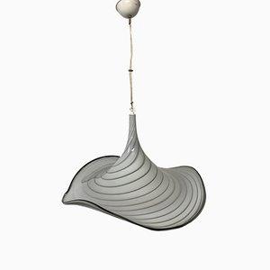 Lámpara colgante italiana Mid-Century con sombrero de cristal de Murano