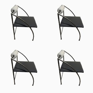 Chaises de Salon Memphis Vintage, Set de 4