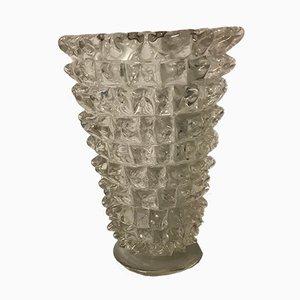 Vintage Rostrato Murano Glas Vase von Ercole Barovier