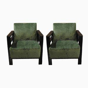 Französischer Vintage Sessel im rationalistischen Stil, 2er Set