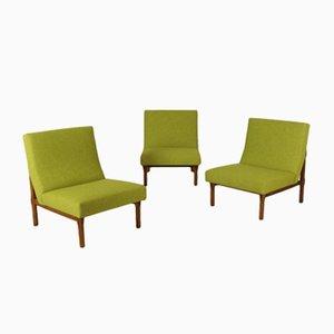 Modell 869 Teak Sessel von Ico & Luisa Parisi für Cassina, 1960er, 3er Set
